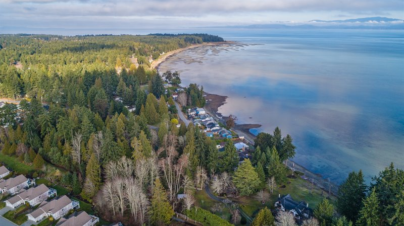 Aerial Overview - Beach at Seaway Dr & Rathtrevor Park