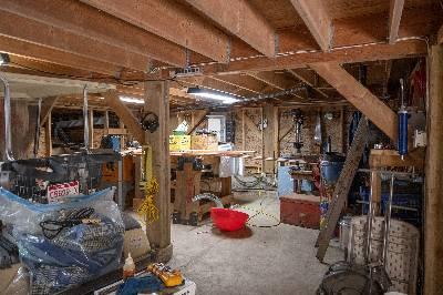 storage space and workshop